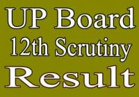UP board 12th Scrutiny Result 2020