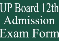 UP Board 12th Admission Exam Form Fill up 2021
