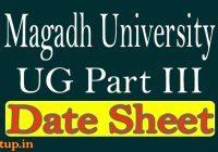 Magadh University Part 3 Date 2020