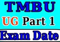 tmbu ba part 1 exam date 2020, TMBU Part 1 Exam Date