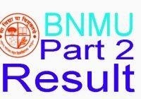 bnmu ba part 2 result