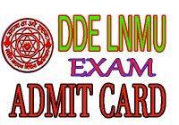 DDE LNMU Admit Card December 2020