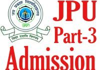 JPU Part 3 Admission 2020