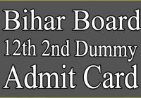 BSEB 12th 2nd Dummy Admit Card 2021