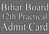 Bihar Board 12th Practical exam Admit Card 2021