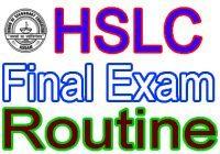 HSLC Examination 2021 Routine