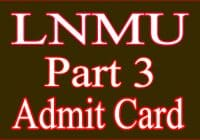lnmu part 3 admit card 2020