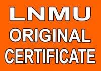 LNMU Original Certificate Form Online