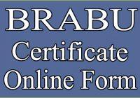 brabu original certificate form