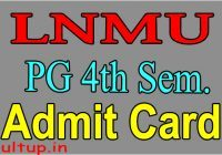 LNMU PG 4th Semester Admit Card 2020
