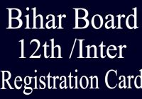 Bihar Board Inter Registration Card 2021