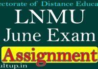 DDE LNMU Assignment July 2021