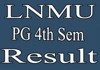 LNMU PG 4th Semester Result 2020