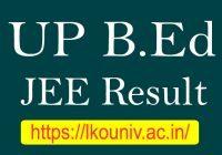 UP B.Ed JEE Result 2020