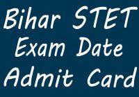 bihar Stet Exam Admit Card 2020