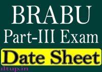 BRABU Part 3 Exam Date 2020