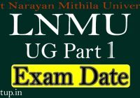 LNMU Part 1 Exam Date 2021 Routine