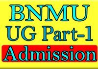 BNMU Part 1 Admission 2020