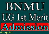 BNMU Graduation Admission 1st Merit 2020