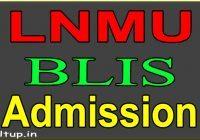 LNMU BLIS Admission 2020-21