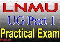 LNMU Part 1 Practical Exam Date 2020