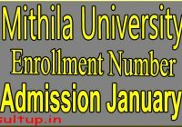 LNMU Admission Roll Number January 2020