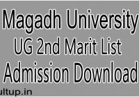 MAgadh University Graduation 2nd Merit List 2020