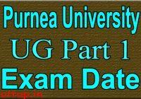 Purnea University Part 2 exam Date 2020