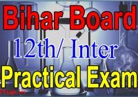 Bihar Board 12th Practical Exam Date 2021
