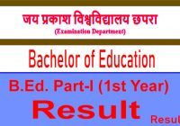 JP University BEd 1st Year Result 2020