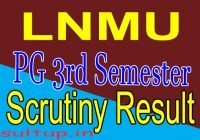 LNMU PG 3rd Semester scrutiny Result 2020