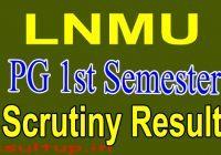 LNMU PG 1st Semester Result 2020