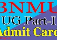 BNMU Part 1 Admit Card 2020