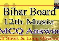 Bihar Board 12th Music Objective Answer 2021