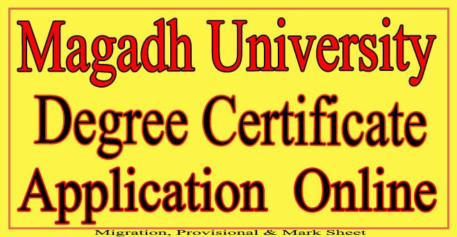 How to Get Original Degree Certificate From Magadh University