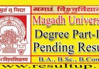MAgadh University Part 3 Pending Result 2021