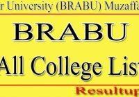 BRABU College list