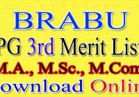 BRABU PG 3rd Merit List 2021