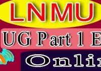 LNMU Part 1 Exam Form 2021