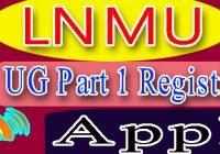 LNMU Part 1 Registration 2021