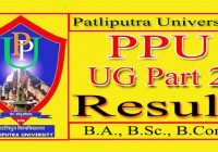 Patliputra University Part 2 Result 2021