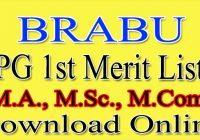 BRABU PG 1st Merit List 2021